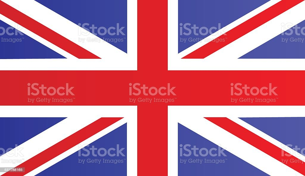 Bandeira do Reino Unido - ilustração de arte em vetor