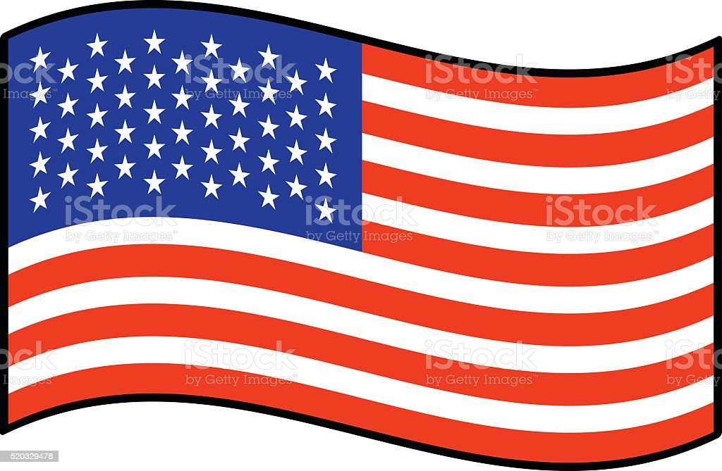 royalty free american flag waving cartoons clip art vector images rh istockphoto com free vector usa flag vector us flag free download