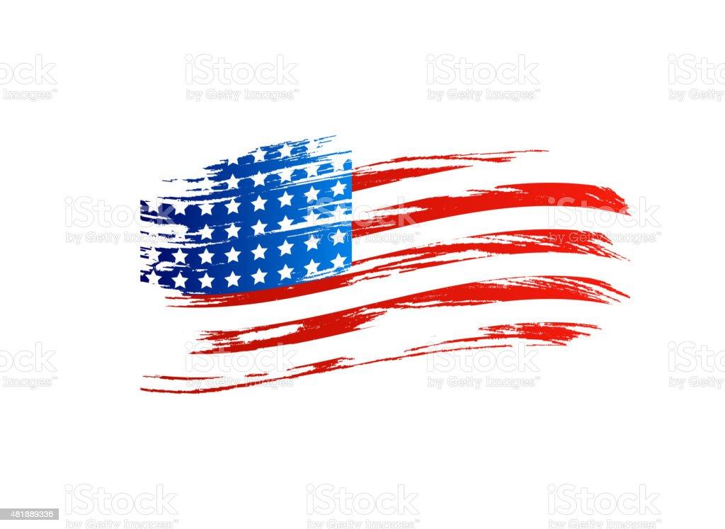 アメリカの旗 ベクターアートイラスト