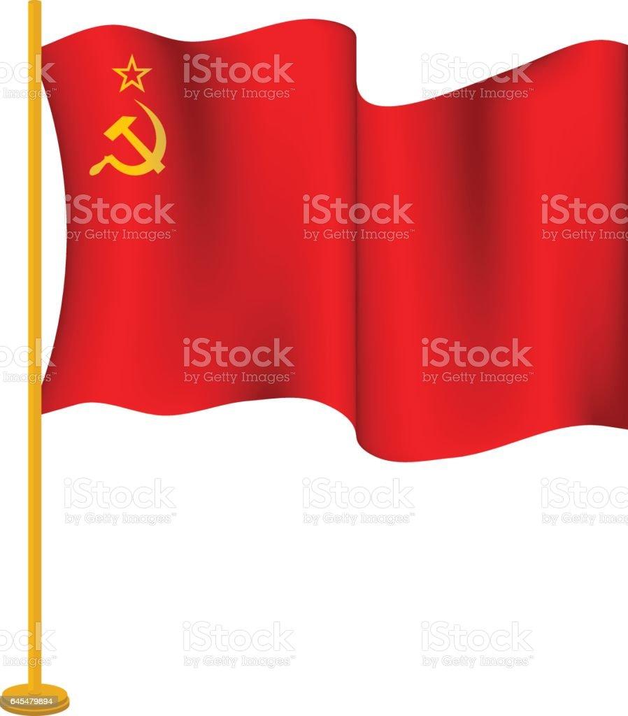 flag of USSR vector art illustration