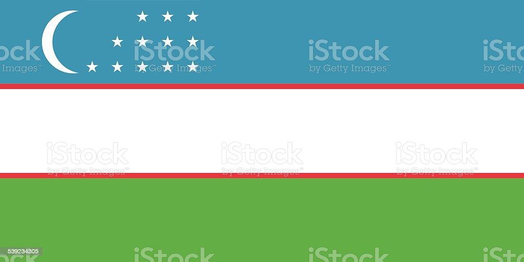 Bandera de Uzbekistán ilustración de bandera de uzbekistán y más banco de imágenes de 2015 libre de derechos