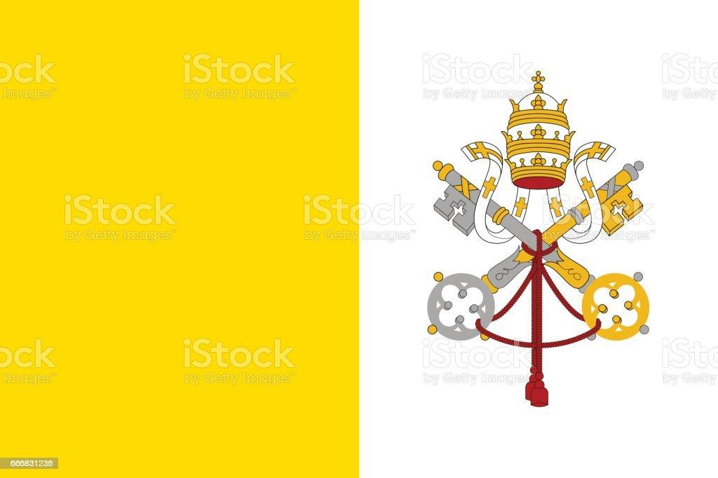 Flag of Vatican City State. vector art illustration
