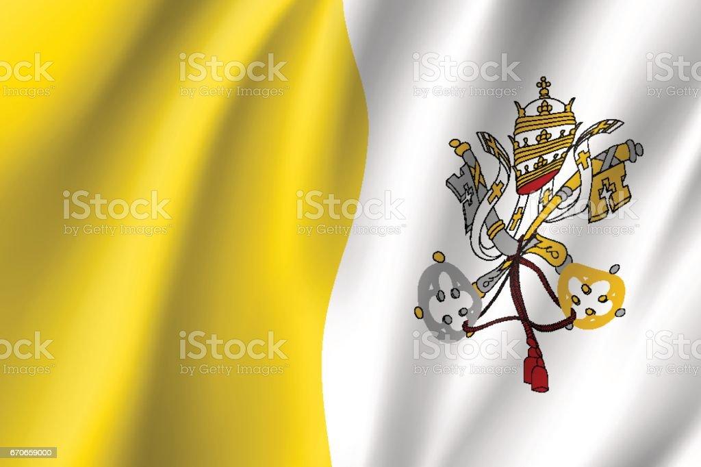 Vatikan şehir devleti bayrağı. - Royalty-free Avrupa Vector Art