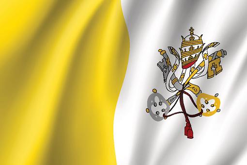 Vatikan Şehir Devleti Bayrağı Stok Vektör Sanatı & Avrupa'nin Daha Fazla Görseli