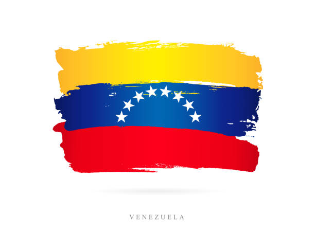 Flagge von Venezuela. Vektor-illustration – Vektorgrafik