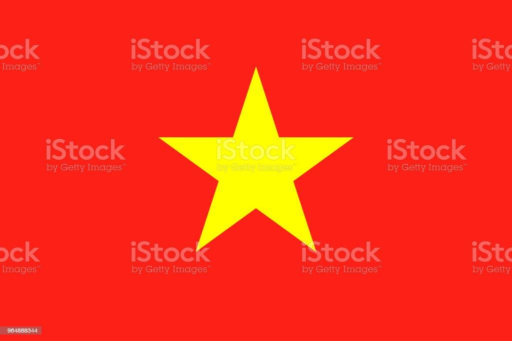 越南國旗。全國越南旗子, 向量例證 - 免版稅世界地圖圖庫向量圖形