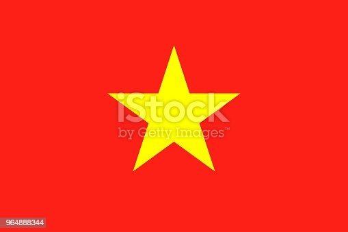 Flag Of Vietnam National Vietnam Flag Vector Illustration Stock Vector Art & More Images of Accuracy 964888344
