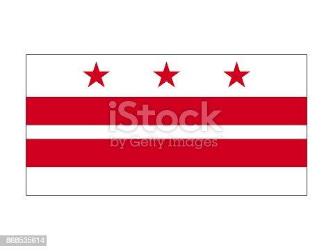 istock Flag of Washington DC 868535614