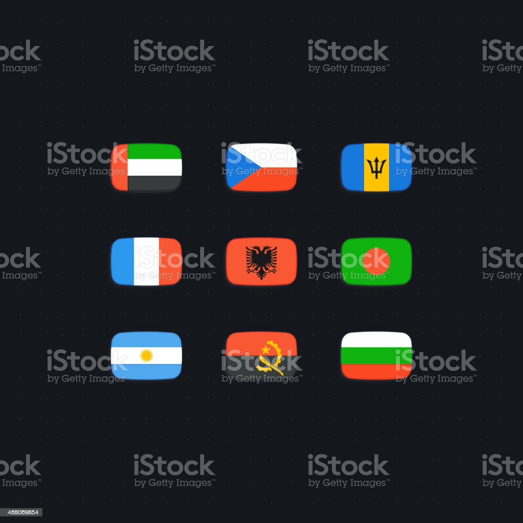 Flag of world vector art illustration