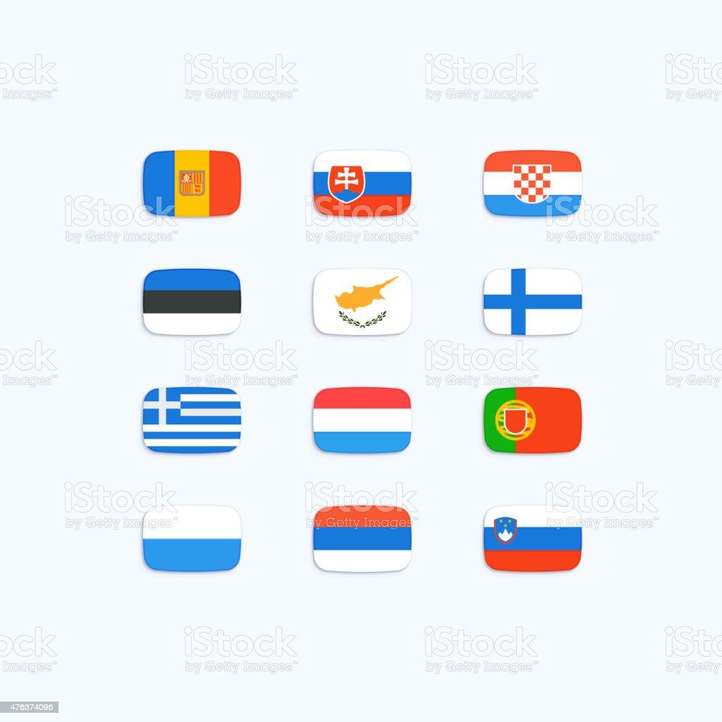 Flagge der Welt – Vektorgrafik