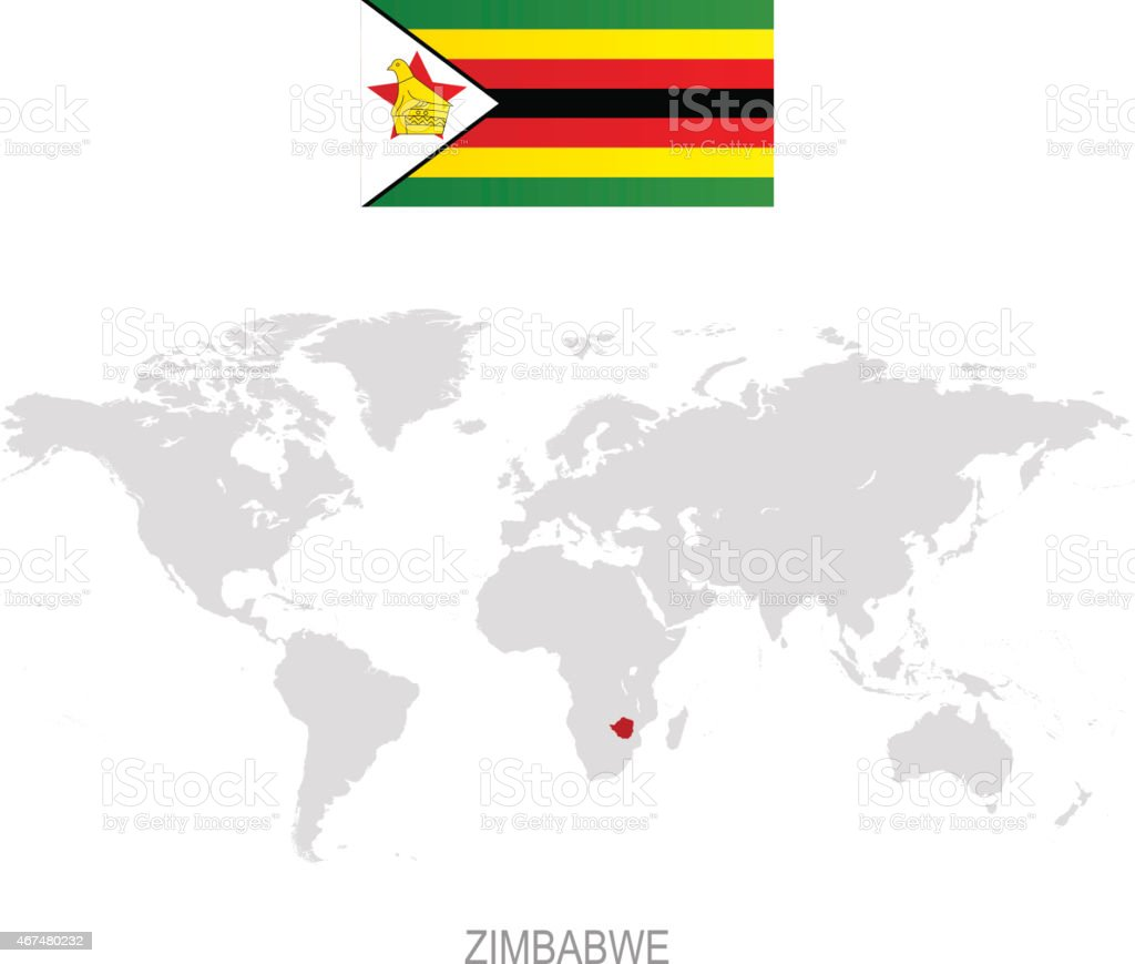 Flag Of Zimbabwe And Designation On World Map Stock Vector Art ... Zimbabwe World Map No Words on world map art, map without words, world map asia, world map unlabeled, world map glowing, world map cartoon, world of words, world map typography, word world words, world map outline, world map in spanish, world topographic map, world map oceans and seas, world map drawing, china no words, world map with the words, world map india, world map printable, world in words, world map love,