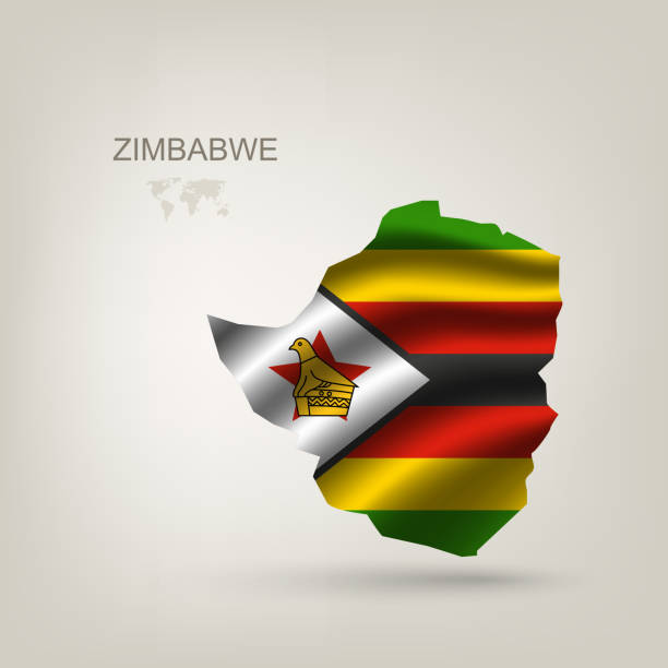 flagge von simbabwe als land - salisbury stock-grafiken, -clipart, -cartoons und -symbole