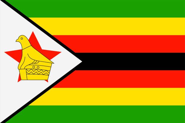 flagge von simbabwe. souveräne staatsflagge simbabwes - salisbury stock-grafiken, -clipart, -cartoons und -symbole