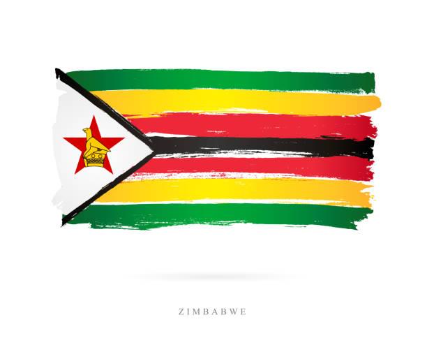 flagge von simbabwe. vektor-illustration - salisbury stock-grafiken, -clipart, -cartoons und -symbole