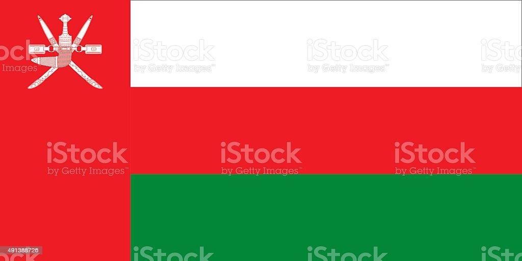 Flag Oman vector art illustration