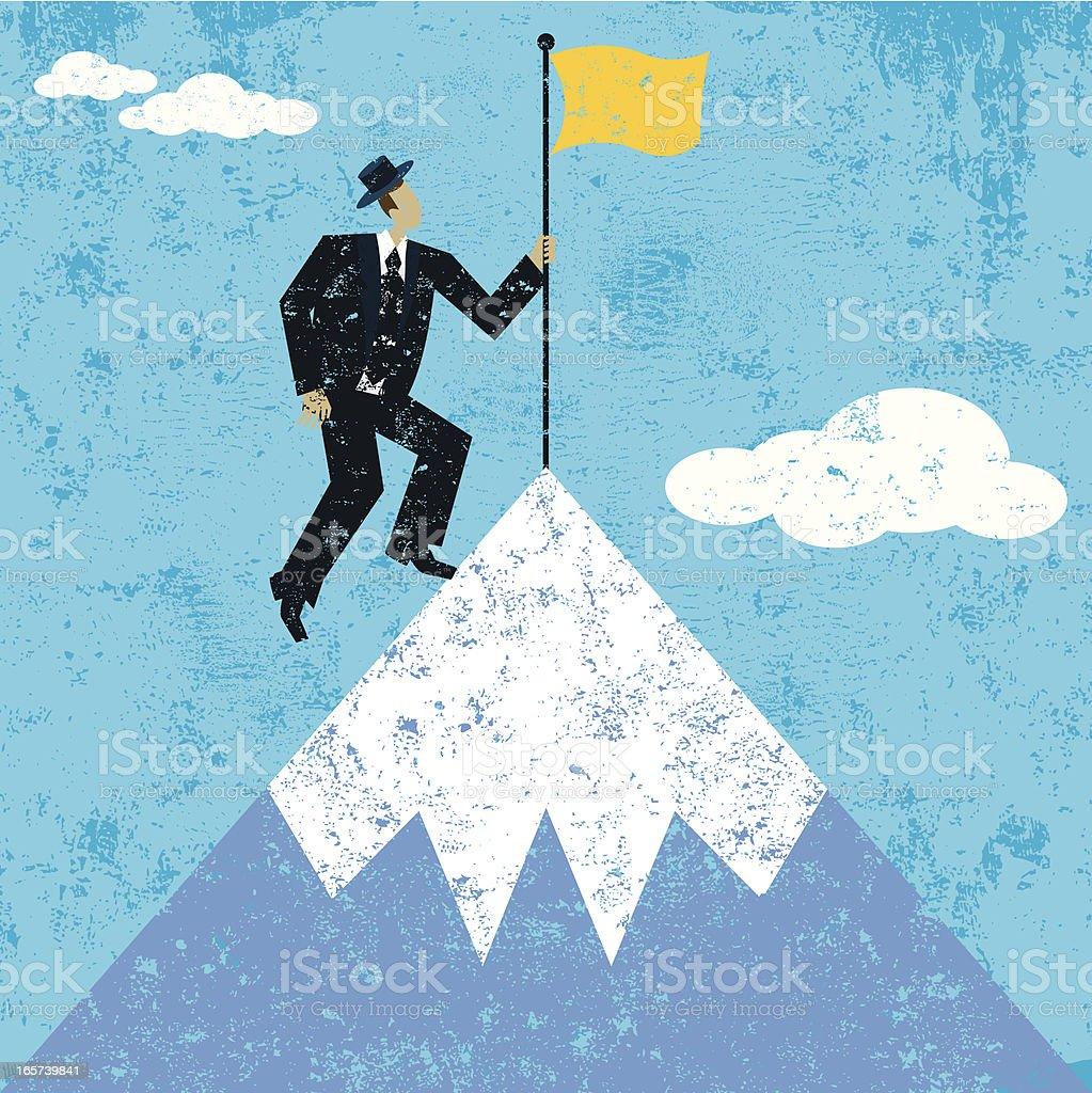 flag on mountain royalty-free stock vector art