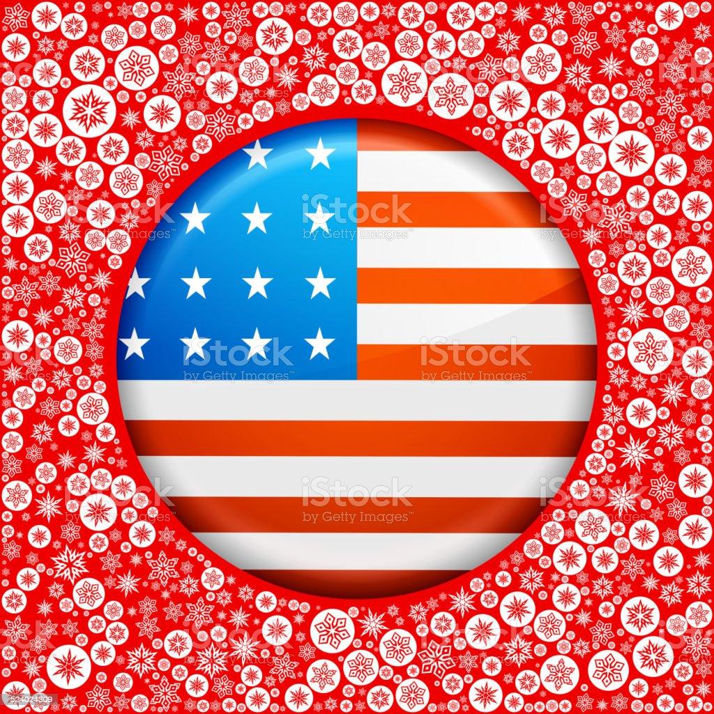 Uniti Fiocchi Di Neve Su Sfondo Rosso Bandiera Immagini Vettoriali