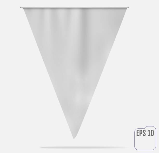 Flag or pennant mockup. Vector vector art illustration