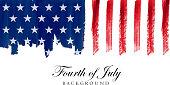 american flag design paintbrush