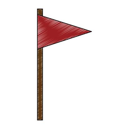 Flag pennant isolated