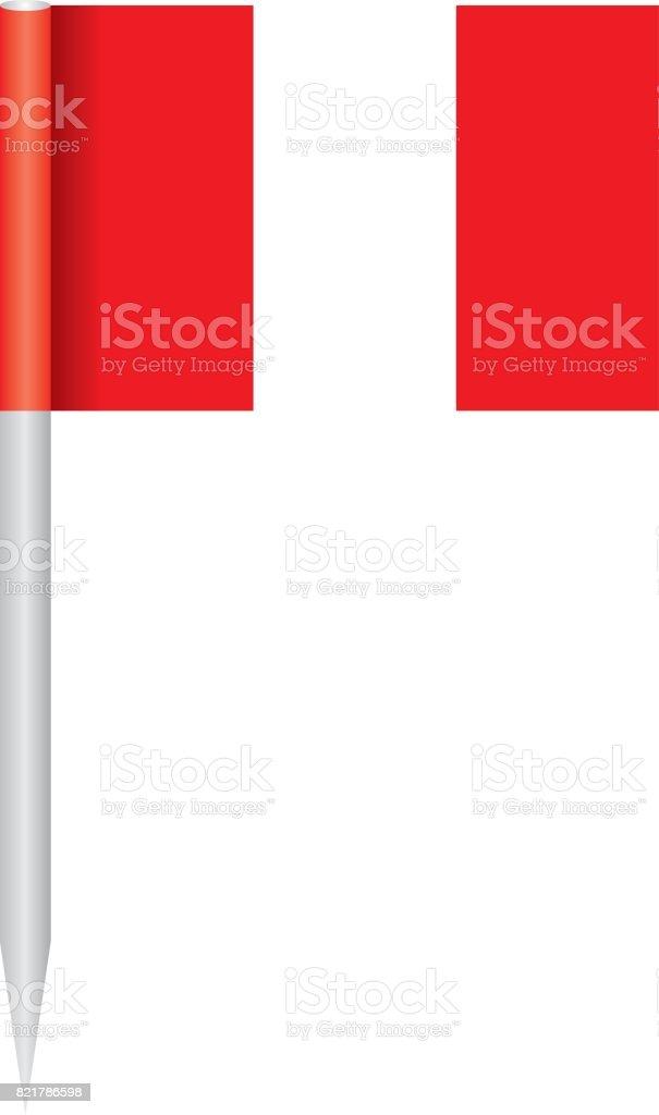 Flagge Peru – Vektorgrafik