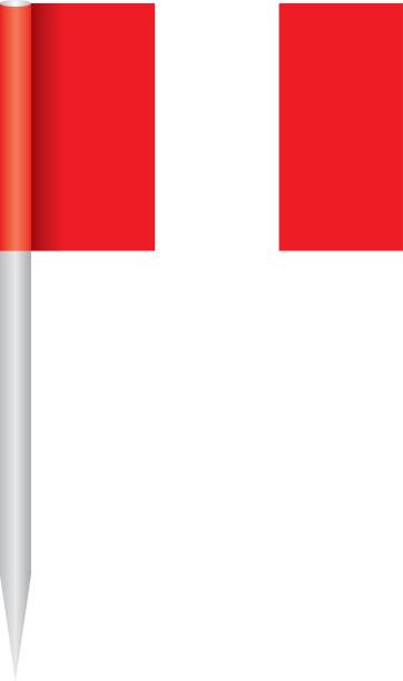 Bandera Perú - ilustración de arte vectorial