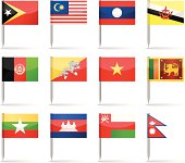 Asian Flags Collection (part 3rd of 4)