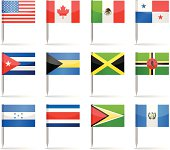 Flag pins - North and Central America