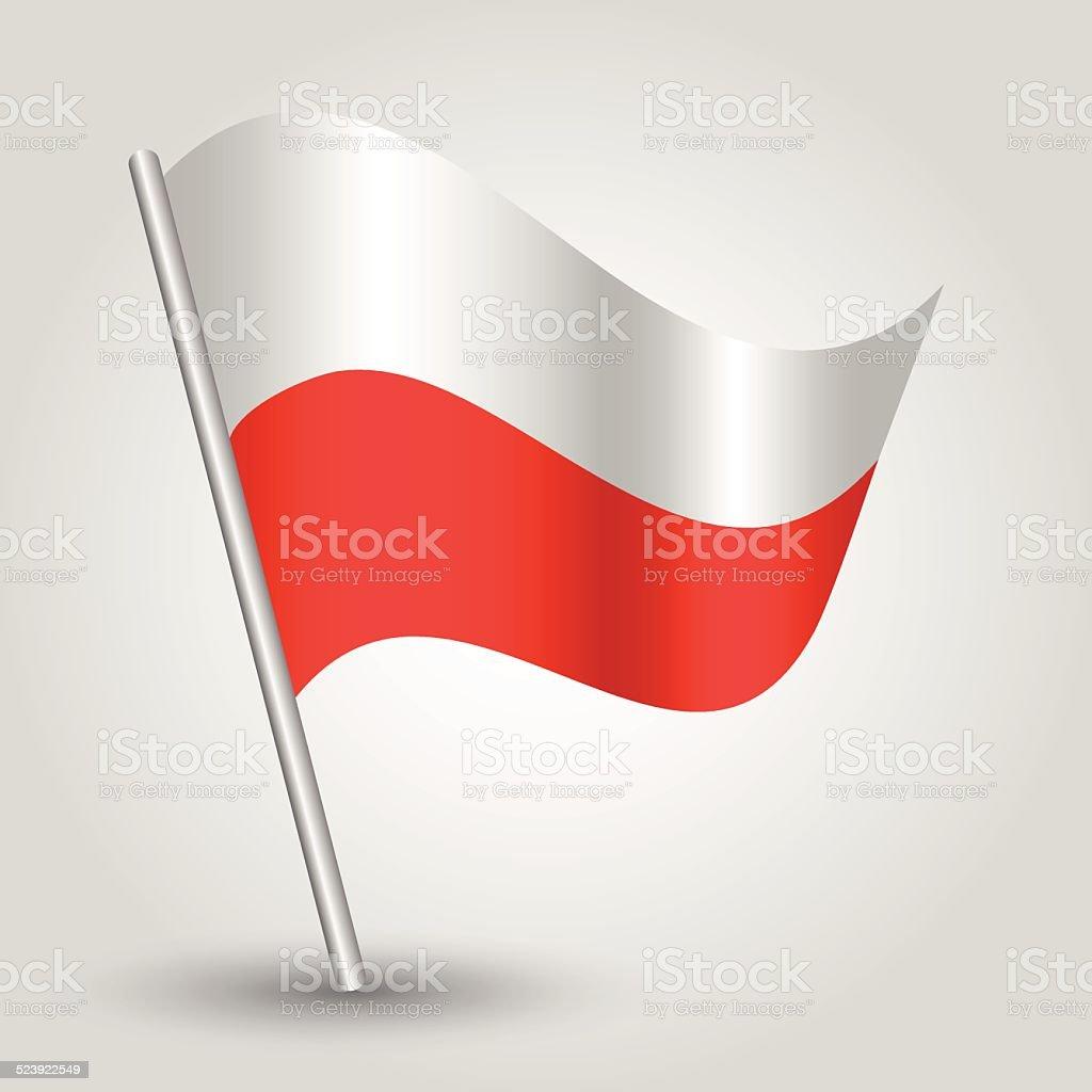 flag poland vector art illustration