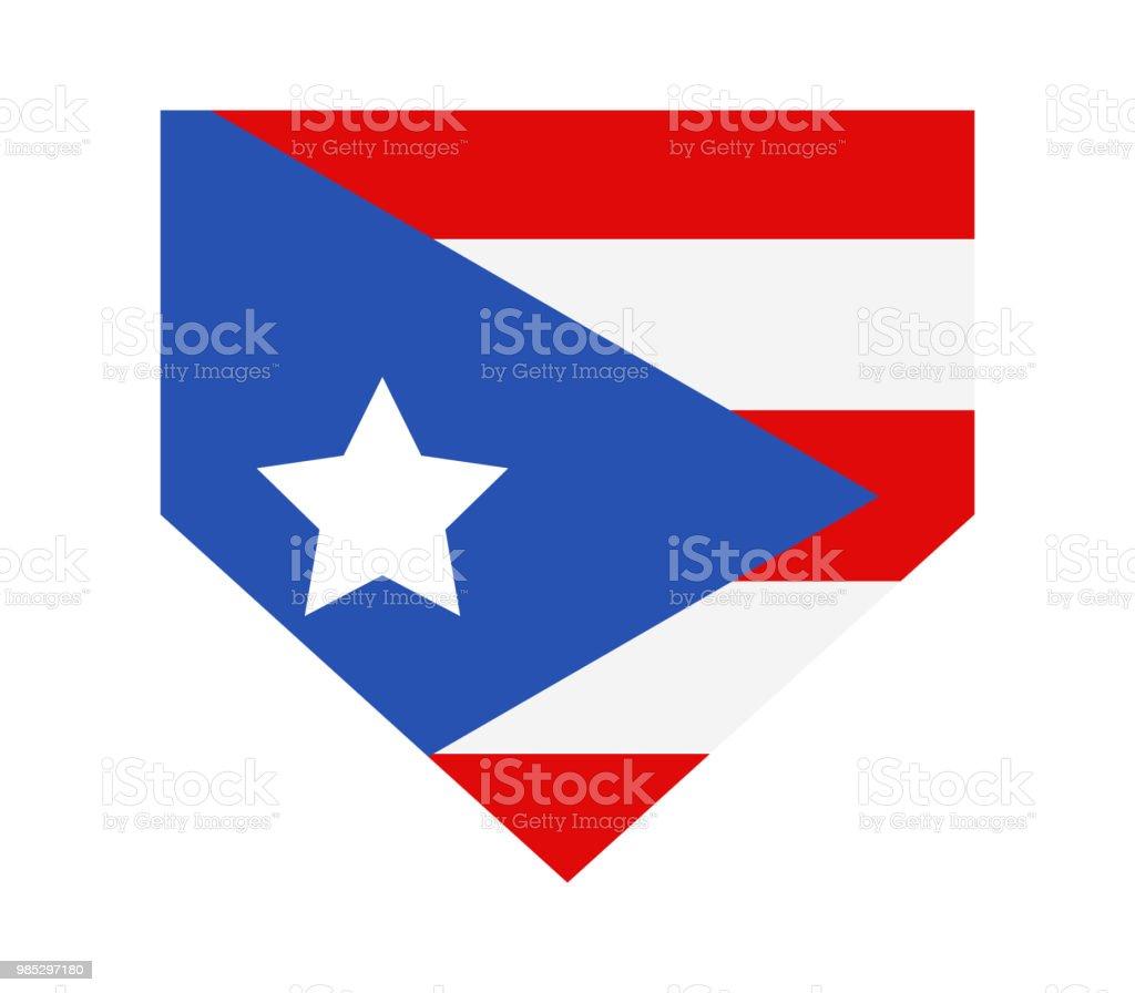 Flag Puerto Rico Stock Illustration - Download Image Now - iStock