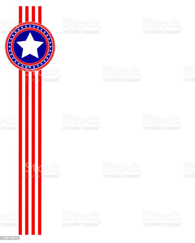 Usa Flagge Band Stilisierten Rahmen Stock Vektor Art und mehr Bilder ...