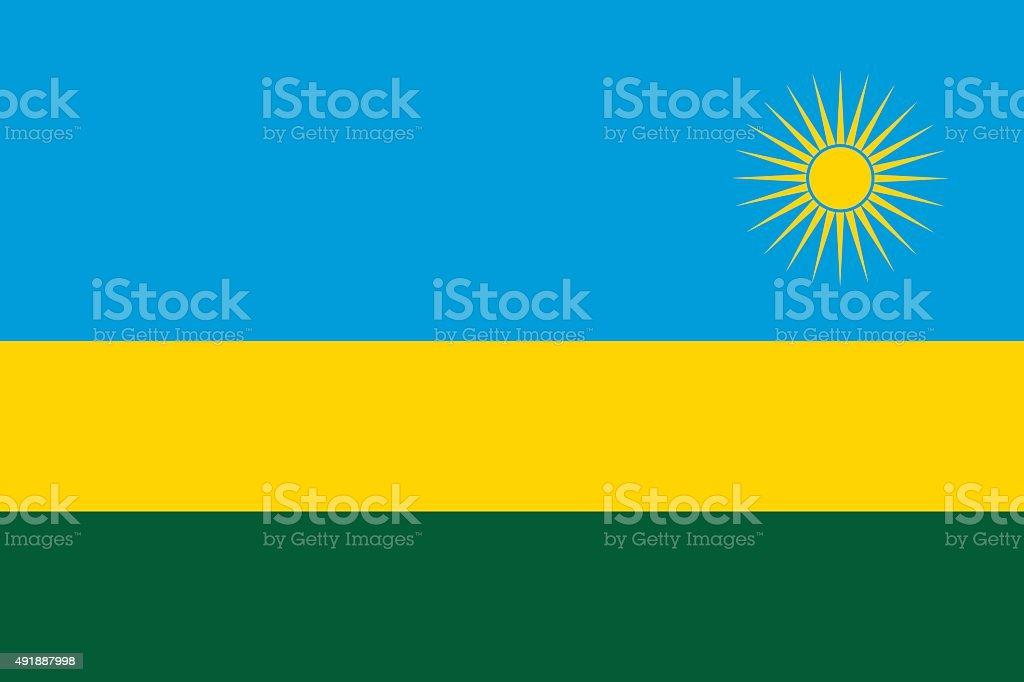 Flag Rwanda vector art illustration
