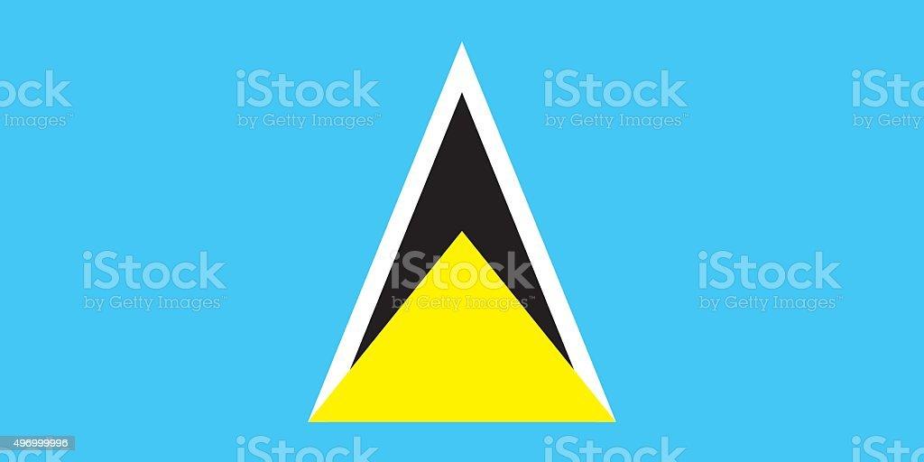 Flag Saint Lucia vector art illustration