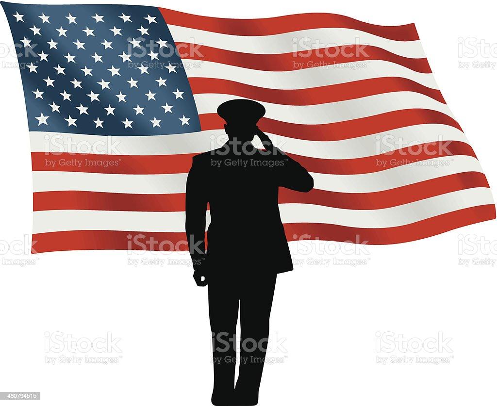 Flag Salute C vector art illustration