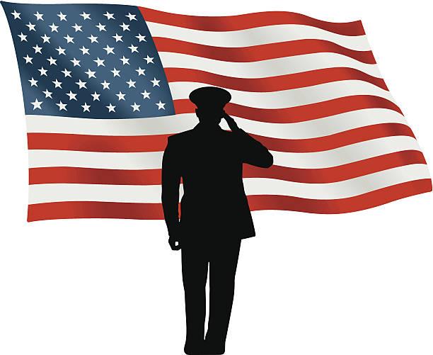 Flag Salute C Flag Salute C saluting stock illustrations