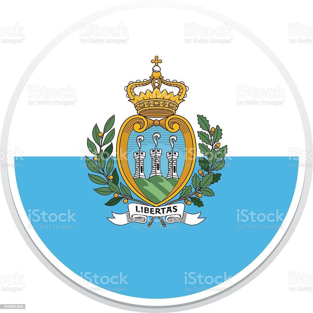 Flag San Marino vector art illustration