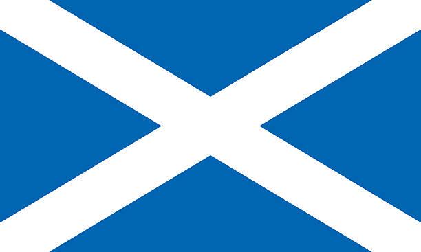 Flag Scotland Flag Scotland alba stock illustrations