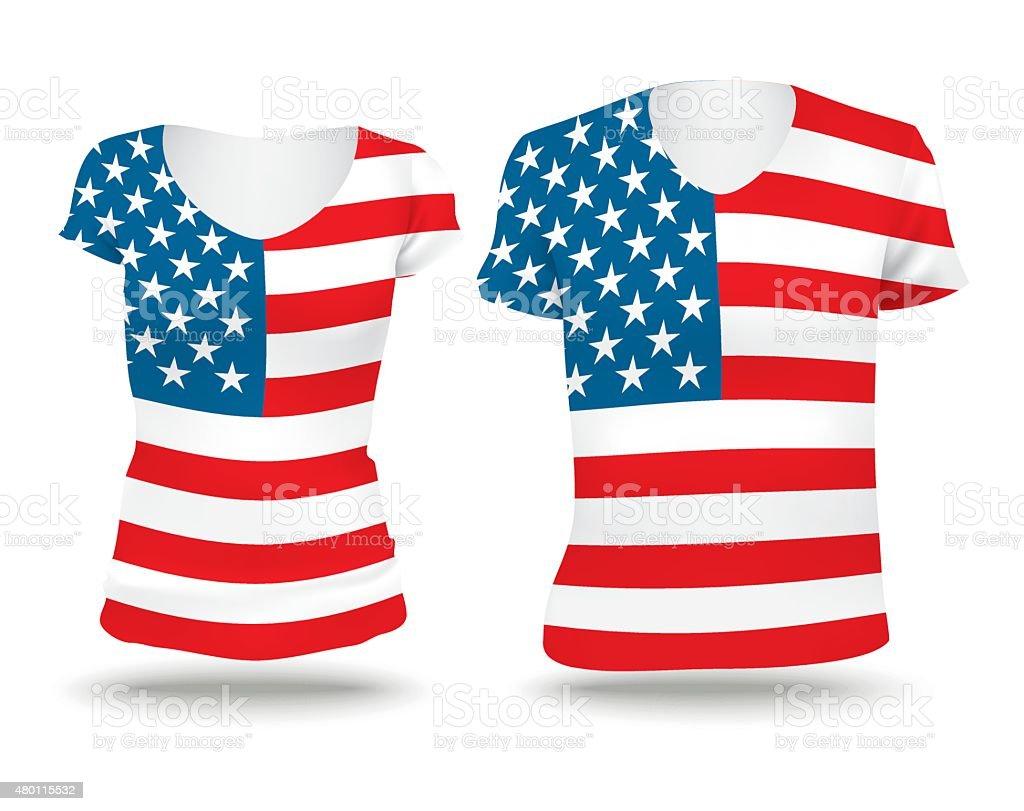 Hemd Mit Flaggendesign Der Vereinigten Staaten Von Amerika Stock ...