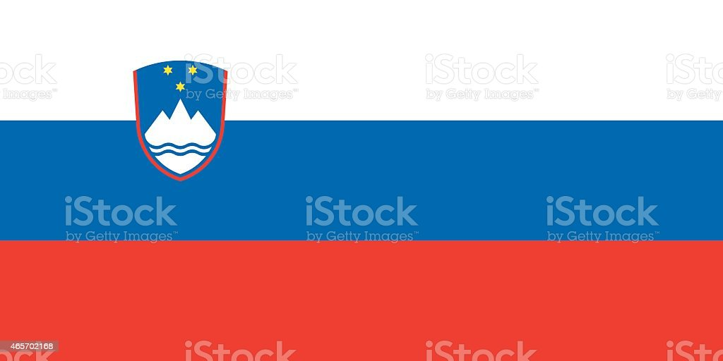 Flag Slovenia vector art illustration