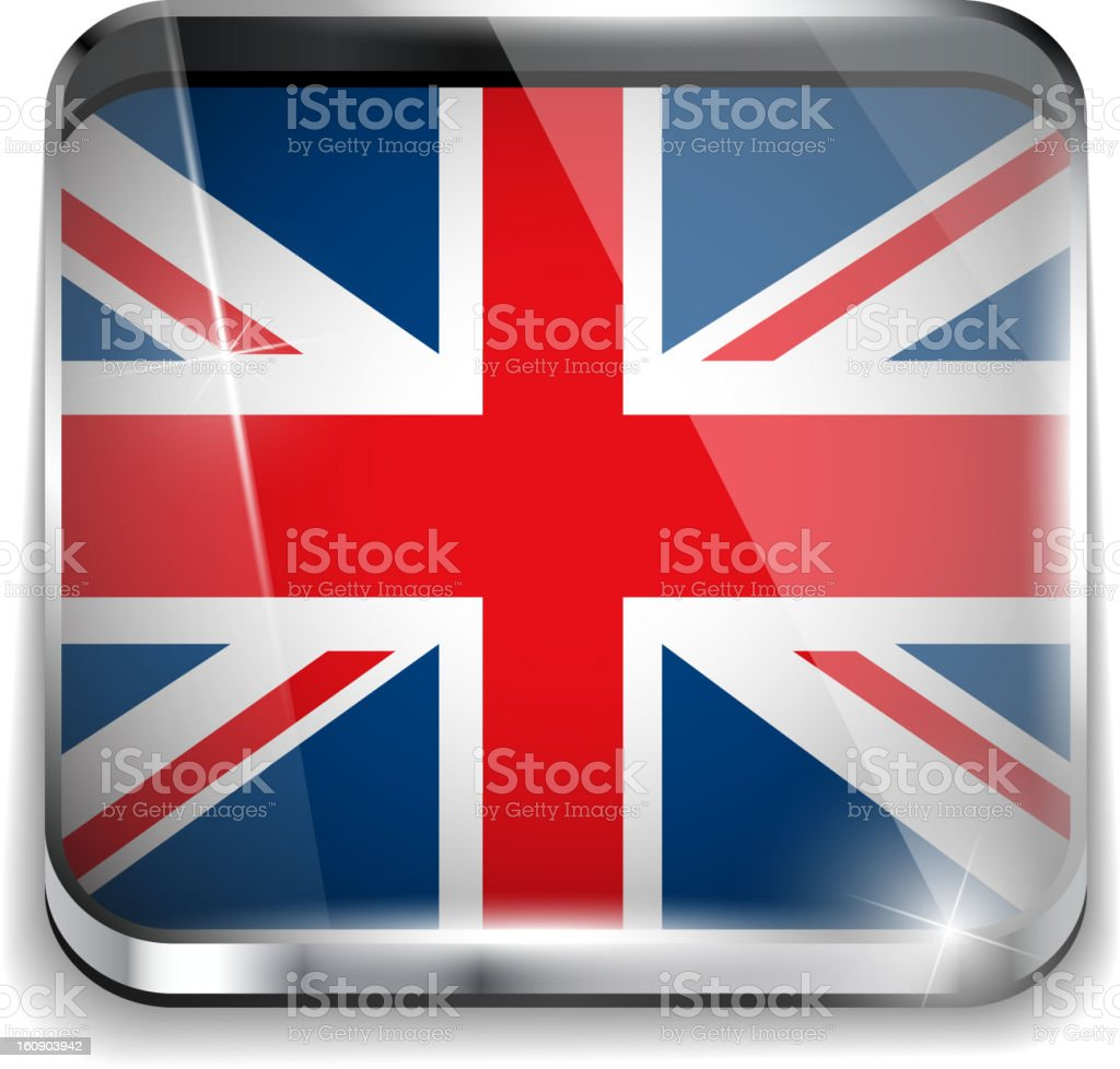 UK Flag Smartphone Application Square Buttons royalty-free stock vector art