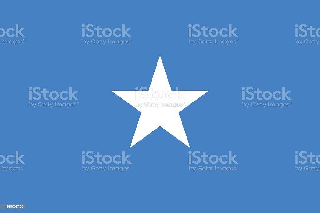 Flag Somalia vector art illustration