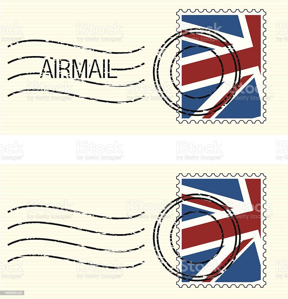 UK Flag Stamp vector art illustration