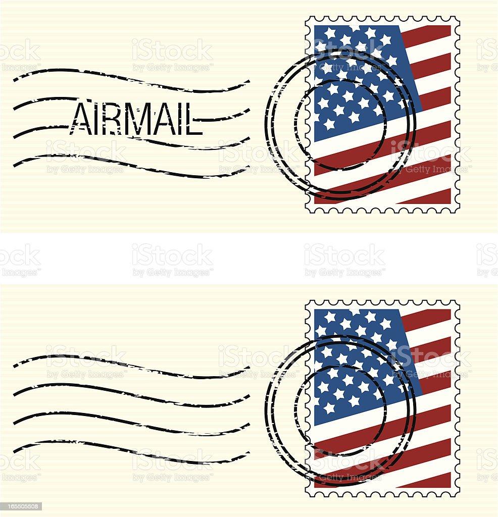 USA Flag Stamp royalty-free stock vector art