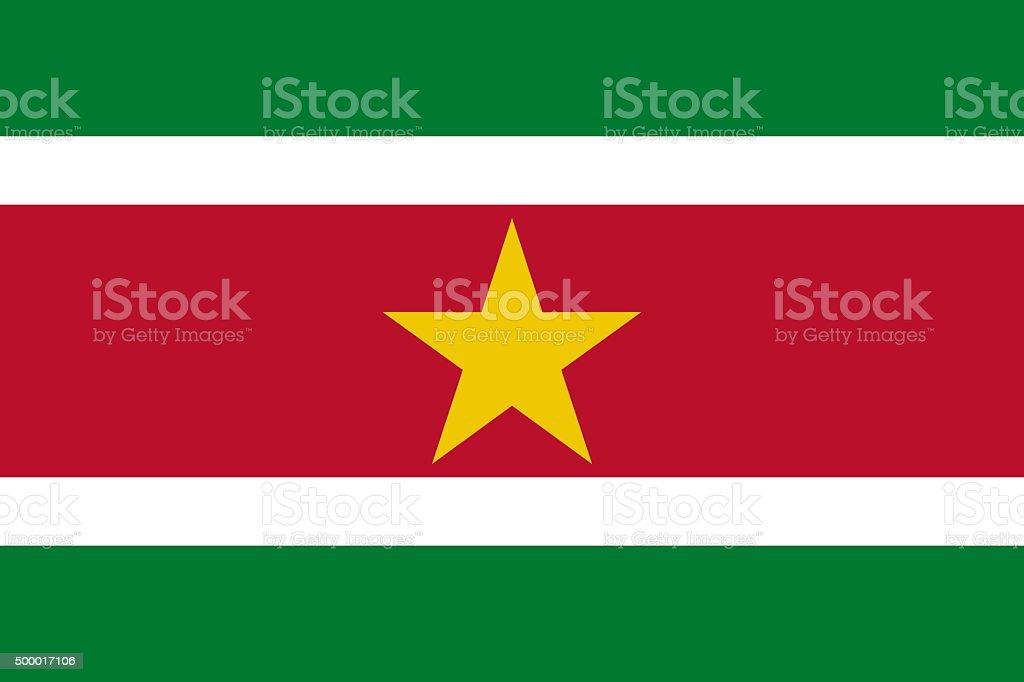 Flag Suriname vector art illustration
