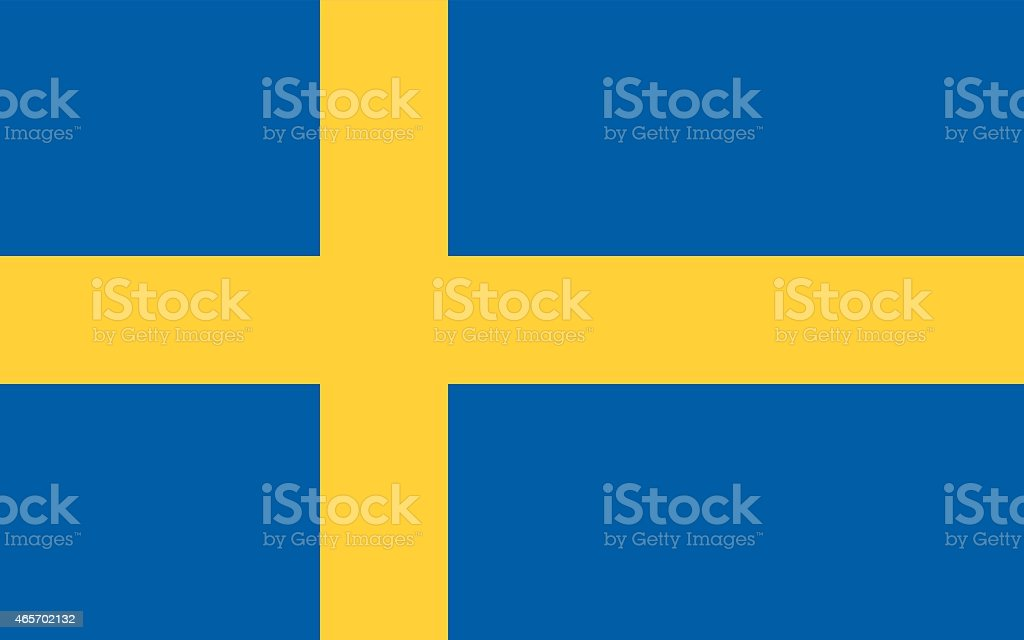 Schwedische Flagge – Vektorgrafik