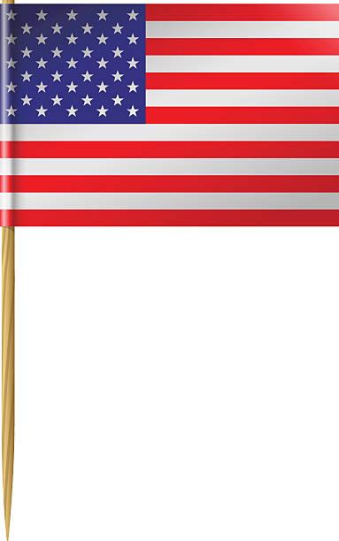 U. S. Flag Toothpick vector art illustration