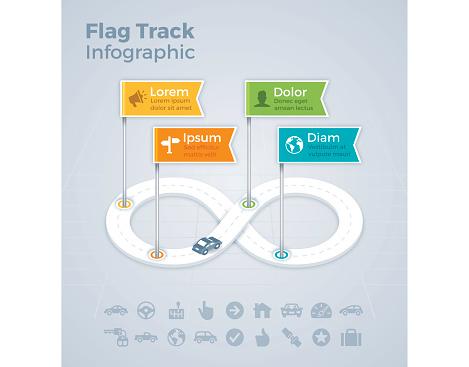Flag Track Infograhic