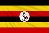 Cartoon map of Uganda