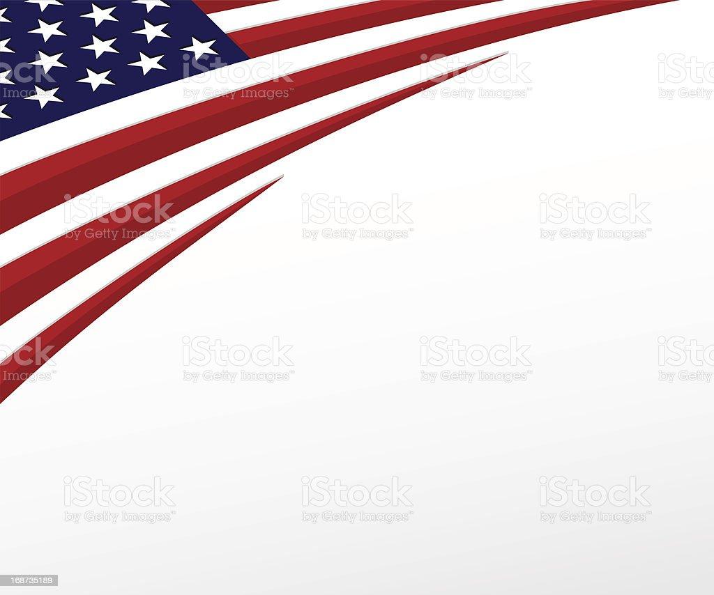 USA flag. United States background. Vector vector art illustration