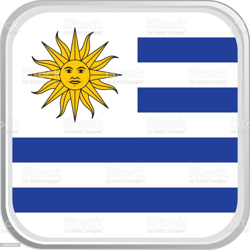 Bandera de Uruguay - ilustración de arte vectorial